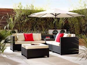 Wholesale cushions: Poly Rattan Sofa Set