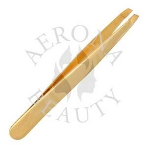 Wholesale straight tweezer: Gold Plated Tweezers