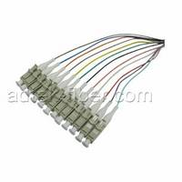 Sell LC UPC fiber optic  multi mode 12 color coded 0.9mm