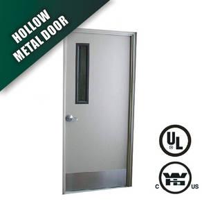 Wholesale steel door: Steel Door with Narrow Glass