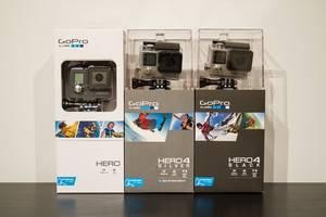Wholesale camera: GoPro HERO4 Black Edition Camera Go-pro Hero 4 BUY 2 GET 1 FREE