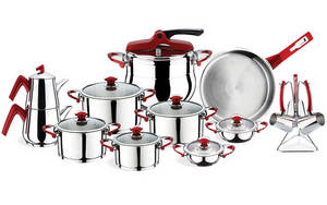 Wholesale Cookware Sets: Stainless Steel Orkide Family Cookware Set