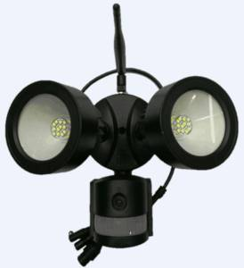 Wholesale camera: AlarmSecur DP35 Smart Home Floodlight PIR Montion Detection Camera with APP Intrusion Notification