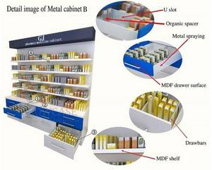Wholesale glass cabinet: Fashionable Drug Store Furniture Wall Mount Pharmacy Cabinet Glass Floor Stand