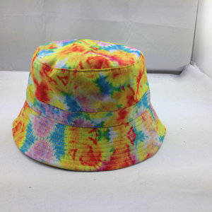 Wholesale woven label custom: Custom Sunmer Printed Bucket Hat with Woven Label