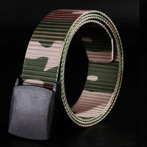 Wholesale fashion belt: Hypo-allergenic Belt Men YKK Buckles Male Canvas Belt Fashion Woven Canvas Belt