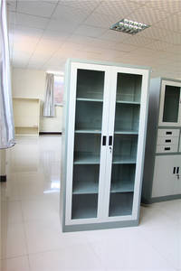 Wholesale glass cabinet: Glass Two Door  File Cabinet
