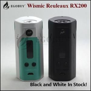 Wholesale optim rx: 100% Original Wismec Reuleaux RX200 TC Mod 18650 Batteries Rx 200 1~200W Black White Matte White Red