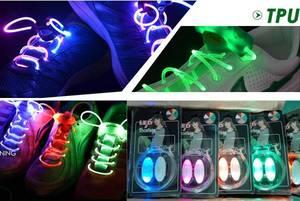 Wholesale flash light: Colorful Flashing Light Up LED Shoelace Light for Shoes Decoration