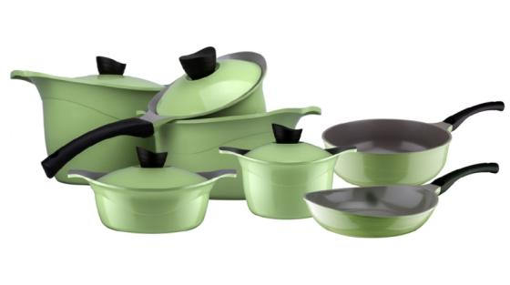 Sell Ceramic coated Eco Green Cookware Set from Korea