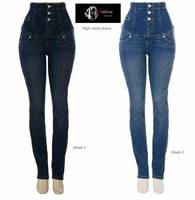 Ladies High Waist Skinny Jeans - Buy High waist Jeans Pencil