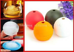 Wholesale silicone tray: Food Grade Square/Circle Silicone Ice Cube Tray Ball