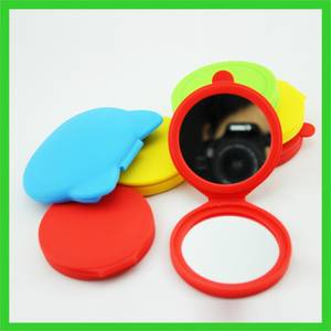 Wholesale makeup mirror: Round Shap Makeup Mirror with Silicone Bag