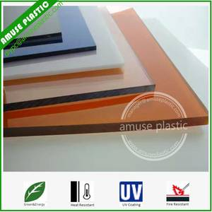 Wholesale pc sheet: Plastic Roofing Sheet Bayer Polycarbonate Board PC Flat Solid Sheets