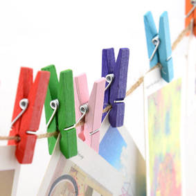 Wholesale Hangers & Racks: Spring Craft Wood Clothespins and pegs