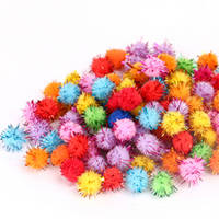 Acrylic tinsel craft diy pom poms from dalian sunflowers for Tinsel craft pom poms
