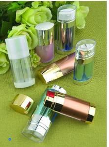 Wholesale www.126.com: 2x10ml (20mls),2x15ml(30mls) dual chamber cosmetic airless  bottle