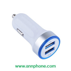 Wholesale usb car charger: New Design 5V/3.1A Dual USB Car Charger Mobile Phone Charger with CE FCC