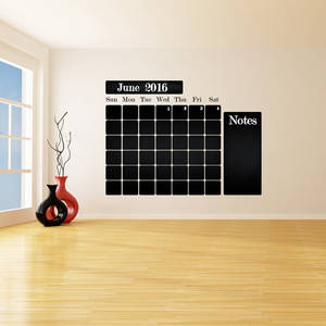 Wholesale sticker: Chalkboard Vinyl Wall Decal Calendar with Notes / Blackboard Month Planner Sticker for Drawing