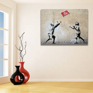 Wholesale games: Banksy No Balls Games Wall Canvas Print / Playing Kids Printing Room Decor / Boy and Girl Poster