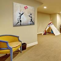 Banksy No Balls Games Wall Canvas Print / Playing Kids Printing Room Decor / Boy and Girl Poster 2
