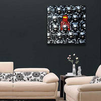 Banksy Poster Wall Canvas Print / Os Gemeos Collaboration Police Printing Room Decor 2