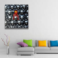 Banksy Poster Wall Canvas Print / Os Gemeos Collaboration Police Printing Room Decor 3