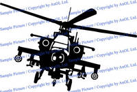 Vinyl Wall Decal Army Helicopter Design / War Machine Art Decor Removable Sticker / Military Flying 4