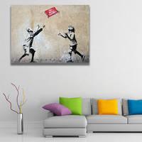 Banksy No Balls Games Wall Canvas Print / Playing Kids Printing Room Decor / Boy and Girl Poster 4