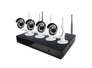 Wholesale weatherproof phone: 720P 4 Channel Wireless CCTV Kit Smartphone Viewing Easy Install Smart Home Kits