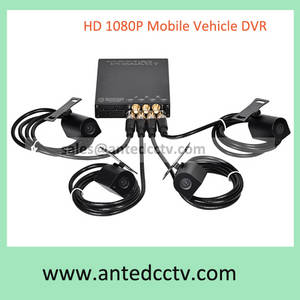 Wholesale gps tracking system: Vehicle CCTV Camera System 1080p HD Mobile Car Digital Video Recorder 4 Channel with GPS Tracking