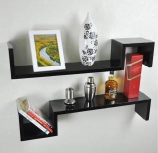 sell wood wall shelfwall racks shape shelf