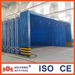 Wholesale pvc door curtains: Industrial Folded  Retractable Spray Paint Booth