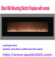 Sell Black Wall Mounting Electric Fireplace with remote