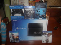 BUY 2 GET 1 FREE Gold BEST SELLER Sony PlayStationS 4 Pro Video Game PLUS 15 FREE GAMES,2 CONTROLLE
