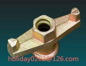 Wholesale engine nut: Formwork Tie Rod Wing Nut 15/17mm.  Casting Iron Wing Nut