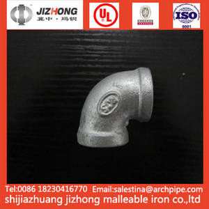 Wholesale elbow dimensions: Malleable Iron BS/ANSI/DIN Standard Elbow