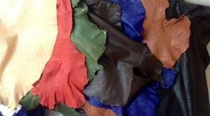 Wholesale b: Ostrich Finished Leather
