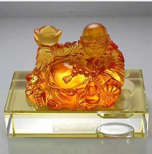 Wholesale famous perfume: Art Glass Crafts Car Decoration Liu Li  Buddha