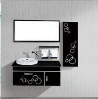 Bathroom Vanity with Ceramic Basin and Mirror