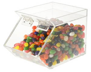 Wholesale candy packing bag: Acrylic Candy Cookie Storage Case Box