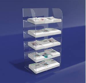 Wholesale acrylic cosmetics display rack: Acrylic Brochure Leaflet  Display Rack