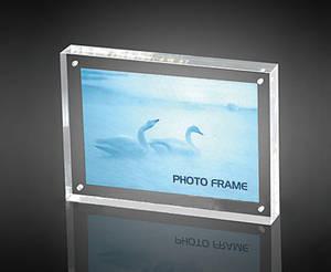 Wholesale acrylic cosmetics organizer rack: Acrylic Magnet Photo Frame Sign Holder,Leaflet Holer