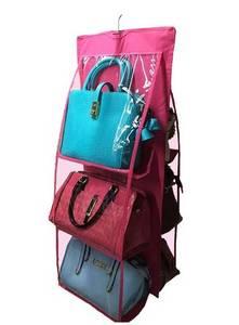 Wholesale purses: 6-Pocket Handbag Purse Holder Collection Organizer