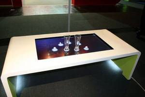 Wholesale hard disk enclosure: 55 Inch Touch Coffee Table for Electronic System Menu Restaurant /Interactive Multitouch Touch Table