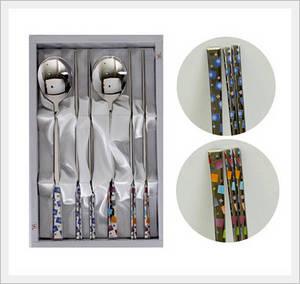 Wholesale Chopsticks: Stainless Steel Tableware Spoon and Chopsticks