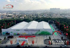 Wholesale glass door: 30x70m Large Outdoor PVC Fabric Exhibition Trade Show Tent for Sale with Glass Door