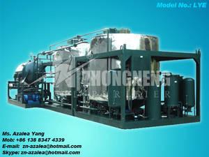 Wholesale sludge dewatering machine: Series LYE Engine Oil Regeneration Machine