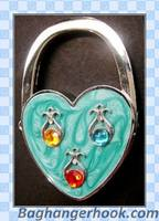 Heart Shaped Foldable Purse Hanger/Bag Hanger/Purse Hook