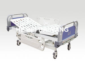Wholesale hospital bed: A-40 Three-function Manual Hospital Bed with ABS Bed Head